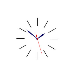 clock sign without body for use as icon placed on vector image vector image