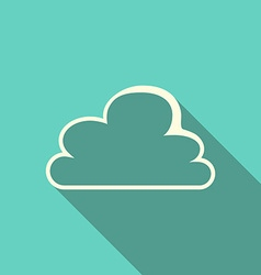 Cloud with long shadow vector image vector image