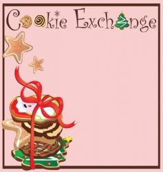 cookie exchange party vector image