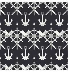 Line nautical seamless background pattern vector image