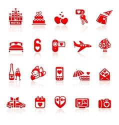 Set valentines day romantic travel vector image
