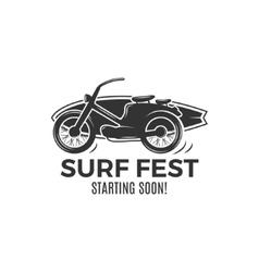 Vintage Surfing tee design Retro Surf fest tshirt vector image vector image