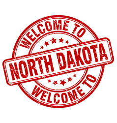 welcome to north dakota vector image