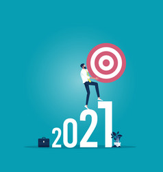 2021 business plan and target achievement concept vector image