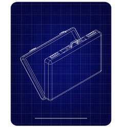 3d model suitcase on a blue vector image