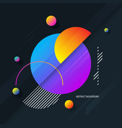 Abstract colorful gradient geometric shape vector