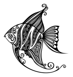 Abstract Sea Fish vector