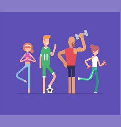 active people doing sport - modern flat design vector image