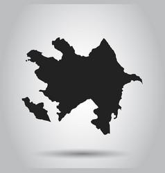Azerbaijan map black icon on white background vector