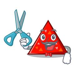 barber triangel character cartoon style vector image