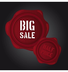 Big sale wax seal vector