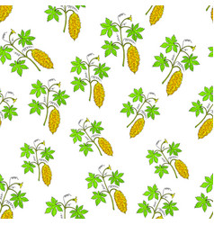 Bitter melon seamless pattern vector
