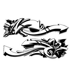 Black and white graffiti backgrounds vector