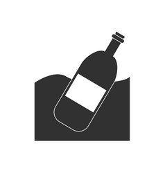 Black icon on white background bottle in the vector