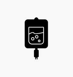 blood test sugar test samples glyph icon isolated vector image