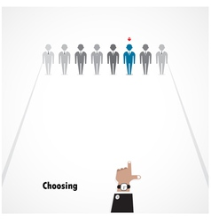 Boss choosing the perfect businessman vector