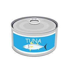 Can of tuna vector image