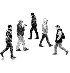 City pedestrians vector