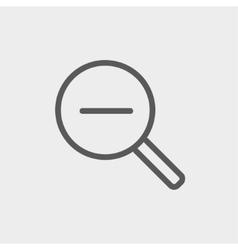 Decrease the volume thin line icon vector