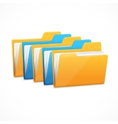 File Folders Set vector