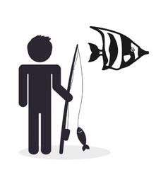 Fishing design fisherman icon isolated vector image