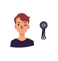 flat futuristic bionic prosthesis icon vector image