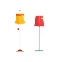 Floor lamps old unnecessary thing garage sale vector
