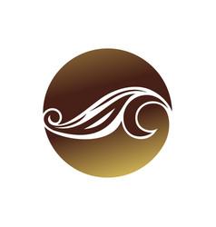 Floral art nouveau circular shape symbol design vector
