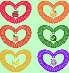 Fruit heart vector image
