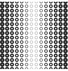 halftone rings seamless pattern black and white vector image