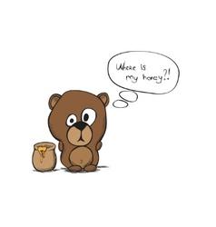hand draw bear vector image