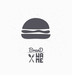 hand drawn silhouette of burger vector image