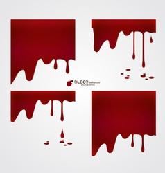 Happy Halloween design banners Blood dripping vector