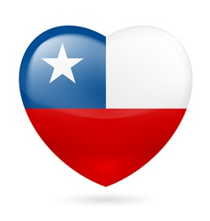 Heart icon of Chile vector