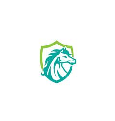 Horse shield logo vector