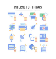 internet things icon in flat design for web vector image