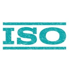 ISO Watermark Stamp vector image