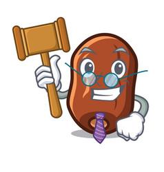 Judge dates fruit mascot cartoon vector