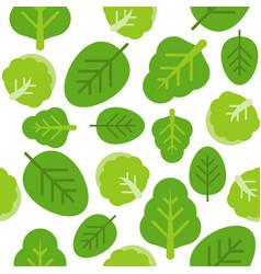 Leaves or vegetable seamless pattern flat design vector