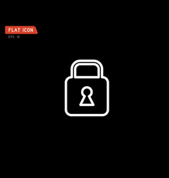 lock icon flat logo classic style vector image