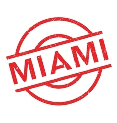 Miami rubber stamp vector image