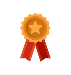 mission completed emblem icon flat isolated vector image