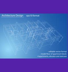 Model floor apartment block vector