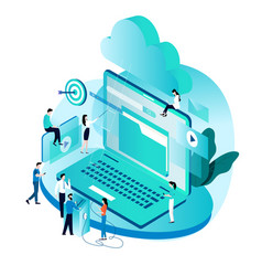 Modern isometric concept for cloud computing vector