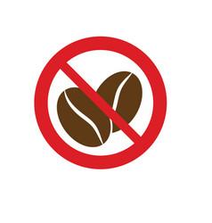 No caffeine no coffee red circle prohibiting vector