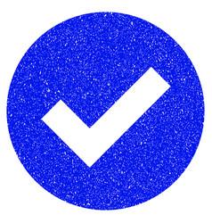 Ok grunge icon vector