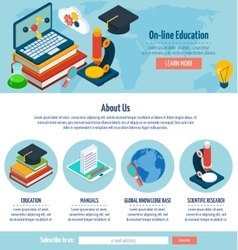 One page online education design vector