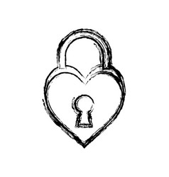 Padlock in heart shape icon vector