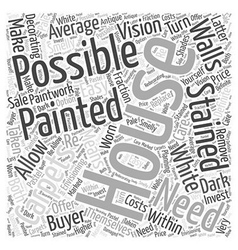 Painting and decorating Word Cloud Concept vector