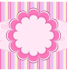 Pink kid background vector